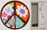 Peace Sign Magic Locker Hook Wall Decal