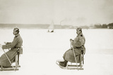 Berlin police officers on sleds, 1914 Photographie par Knorr & Hirth