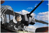 Army Aircraft Gunner Colorized Archival Photo Poster Posters