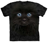 Black Kitten Face T-shirts