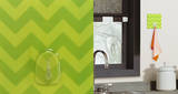 Green Chevron Magic Hook Wall Decal