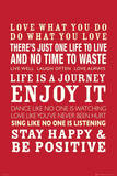 Life Quotes Plakater