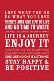 Life Quotes Lámina