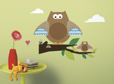 One Décor Owl & Branch Peel & Stick Wall Decals Wall Decal