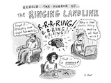 """Behold The Horror Of... The Ringing Landline"" - New Yorker Cartoon Premium Giclee Print by Roz Chast"