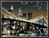 New York II Framed Canvas Print by Kate Carrigan