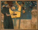Music, 1895 Framed Canvas Print by Gustav Klimt