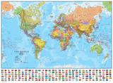 Carte du monde éducative (1:30) – Poster laminé Posters