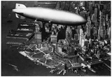 Hindenburg passing New York Archival Photo Poster Posters