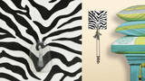 Zebra Magic Hook Wall Decal
