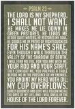 Psalm 23 Prayer Art Print Poster Obrazy