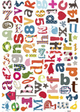Alphabet Wall Decals Wall Decal
