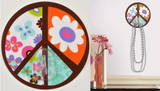 Peace Sign Magic Hook Wall Decal
