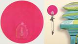 Bright Pink Magic Hook Wall Decal