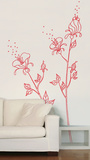 Red Pollen Transfer Wall Decals Wall Decal