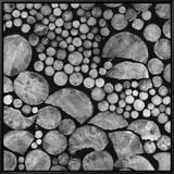 Lumber Framed Canvas Print by Brett Weston