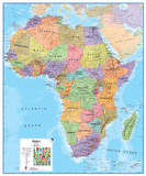 Africa 1:8 Wall Map, Educational Poster Prints