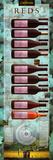Wandkaart met overzicht Californische rode wijnen Foto van Naomi Weissman