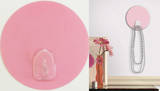 Light Pink Dot Magic Hook Wall Decal