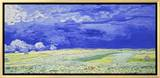 Field under a Stormy Sky Brushstroked Canvas by Vincent van Gogh