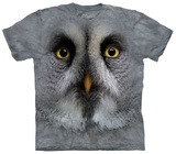 Great Grey Owl Face T-shirts