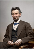 Abraham Lincoln Color Archival Photo Poster Posters