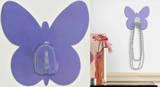 Purple Butterfly Magic Hook Wall Decal