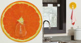 Orange Slice Magic Hook Wall Decal