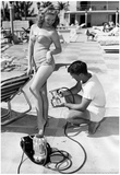 Bathing Suit Girl Spray Tan Archival Photo Poster Plakaty