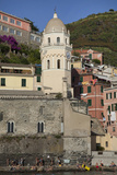 A Church in Manarola, One of Five Towns in the Cinque Terre Photographic Print by Scott S. Warren