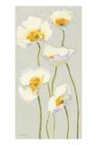 White on White Poppies Panel II Premium Giclee Print by Shirley Novak
