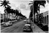 Miami Beach Lincoln Road 1954 Archival Photo Poster Posters