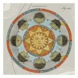 Solar Calendar Premium Giclee Print by Sue Schlabach