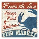 Fresh Seafood IV Giclee-tryk i høj kvalitet af Pela
