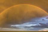 A Rainbow in a Golden Sky over the Gobi Photographic Print by Jonathan Irish