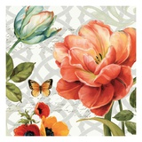 Floral Story III on Grey Giclee Print by Lisa Audit