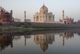 The Taj Mahal, and its Reflection in the Yamuna River Photographic Print by Jonathan Irish