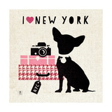 NY Pooch Premium Giclee Print by Sarah Mousseau