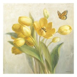 Yellow French Tulips Premium Giclee Print by Danhui Nai