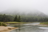 A River Winding Past Cloud-Shrouded Mountains Photographic Print by Jonathan Irish