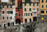 Buildings in Riomaggiore, One of Five Towns in the Cinque Terre Photographic Print by Scott S. Warren