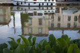 Reflections in the Canal Du Midi in the Town of Homps in Languedoc Photographic Print by Scott S. Warren