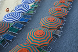 Beach Umbrellas in Monterosso Al Mare, One of Five Towns in the Cinque Terre Photographic Print by Scott S. Warren