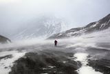 An Extreme Trekker Crosses Shellabarger Pass During Whiteout Conditions Photographic Print by Michael Christopher Brown