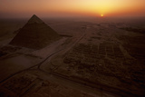 The Giza Plateau at Sunset Photographic Print by Kenneth Garrett