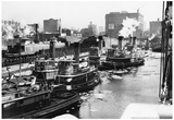 Tug Boats on Hudson River 1946 Archival Photo Poster Poster