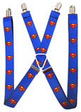 DC Comics - Superman Shield Blue Suspenders Novelty