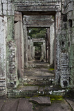 Doors in a Row at the Angkor Thom Temple Photographic Print by Scott S. Warren