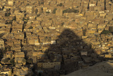 One of the Pyramids of Giza Casts a Shadow over the City Photographic Print by Kenneth Garrett
