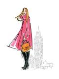 Colorful Fashion I Giclee-tryk i høj kvalitet af Anne Tavoletti